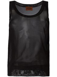 Missoni Sheer Tank Top Black