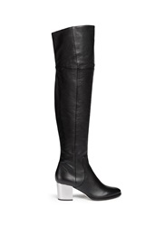 Jimmy Choo 'Mercer' Thigh High Leather Boots Black