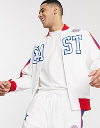 Mitchell And Ness 1988 All Star East Hook Shot Track Top In White