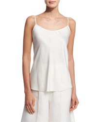 Scoop Neck A Line Camisole Ivory