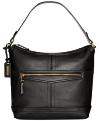 Tignanello Pretty Pockets Leather Hobo Black