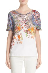 Etro Women's Floral And Paisley Print Cotton Tee