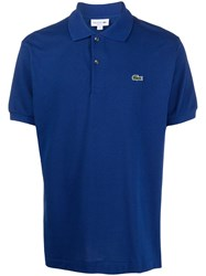 Lacoste Logo Embroidered T Shirt Blue