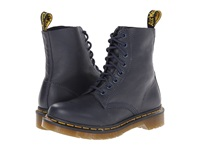 Dr. Martens Pascal 8 Eye Boot Dress Blue Virginia Women's Lace Up Boots Black