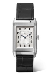 Jaeger Lecoultre Reverso Classic 21Mm Small Stainless Steel And Alligator Watch Silver