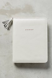 Anthropologie Gilded Anglophile Journal White
