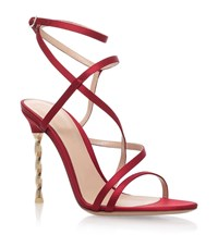 Gianvito Rossi Satin Wrap Sandals Female Red