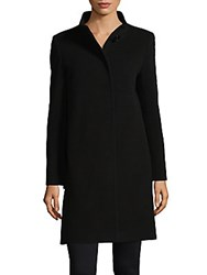 Cinzia Rocca Solid Wool Blend Coat Camel