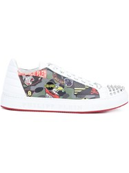 Philipp Plein Studded Air Force Sneakers White