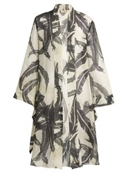 Adriana Degreas Martinique Print Silk Crepe De Chine Cover Up Green Multi