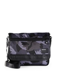 Diesel Camo Messenger Bag Black