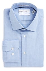 Calibrate Men's Big And Tall Trim Fit Non Iron Dress Shirt Blue Hydrangea