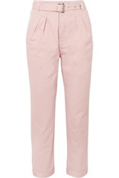 Paul And Joe Arsenios Cotton Twill Tapered Pants Pink Gbp