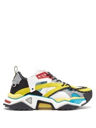 Calvin Klein 205W39nyc Strike 205 Leather And Mesh Trainers Multi