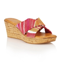 Lotus Luisa Wedge Sandals Fuchsia