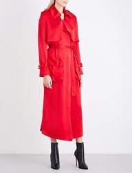 Michael Lo Sordo Relaxed Trench Coat Red
