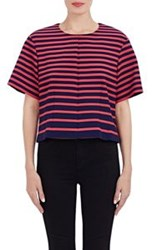 Thakoon Addition Striped Crop Top Colorless Size 6 Us