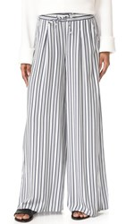 Bb Dakota Jack By Maximus Shades Of Grey Pleat Pants White