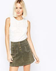 Daisy Street Top In Floral Lace White