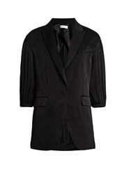 Sonia Rykiel Puff Sleeve Satin Crepe Jacket Black