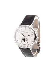 Frederique Constant 'Manufacture Slimline Moonphase' Analog Watch Stainless Steel