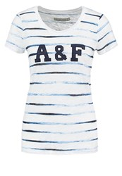 Abercrombie And Fitch Print Tshirt White Blue