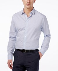Alfani Men's Extra Slim Fit Performance Blue Check Dress Shirt Only At Macy's