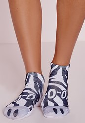 Missguided Zebra Socks Multi