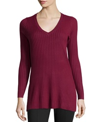 Design History Ribbed Knit V Neck Tunic Barolo