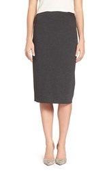 Vince Camuto Women's Ponte Midi Skirt Dark Heather Grey