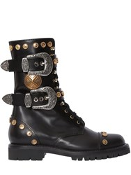 Fausto Puglisi 30Mm Studded Leather Combat Boots