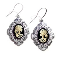 Couture By Lolita Lady Skeleton Deco Dangle Earrings