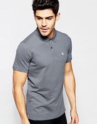 Selected Homme Pique Polo Shirt Grey