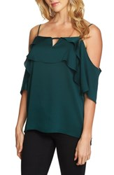 1.State Women's Tiered Cold Shoulder Top Rich Black