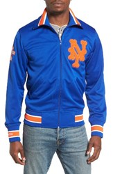 Mitchell And Ness Men's Authentic New York Mets Baseball Jacket