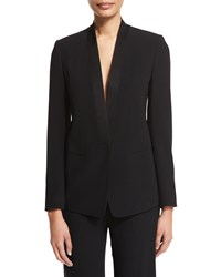 Dkny Tuxedo Jacket With Satin Lapel Winter White