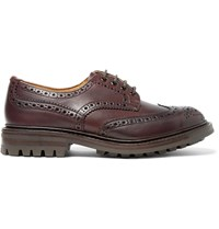 Tricker's Bourton Leather Wingtip Brogues Burgundy