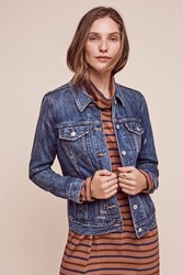 Anthropologie Levi's Boyfriend Denim Jacket Dark Denim