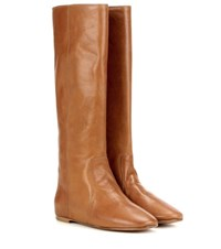 Isabel Marant Etoile Renee Leather Knee High Boots Brown