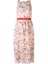 Si Jay Floral Cinched Dress Women Polyester 42 Nude Neutrals