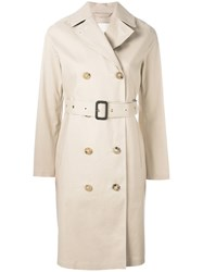 Mackintosh Belted Trench Coat Nude Neutrals