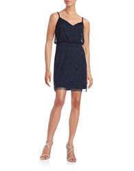 Adrianna Papell Beaded Blouson Tank Dress Navy