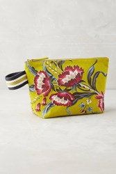 Anthropologie Gardener Pouch Chartreuse
