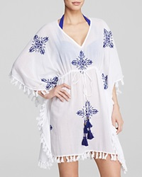 Tommy Bahama Embroidered Medallion Tunic Swim Cover Up White Danubio
