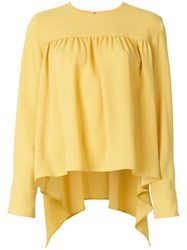 Sonia Rykiel Flared Blouse Yellow And Orange
