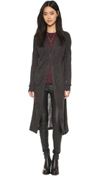 Just Female Reggie Long Cardigan Antrasit