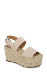 Marc Fisher 'S Ltd Renni Espadrille Platform Wedge Sandal Tan Suede