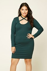 Forever 21 Plus Size Bodycon Choker Dress