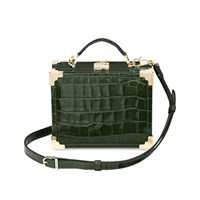 Aspinal Of London Mini Trunk Bag Forest Green