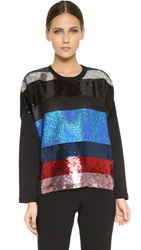 Giambattista Valli Embellished Sweatshirt Black Red Blue